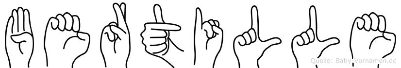 Bertille in Fingersprache für Gehörlose