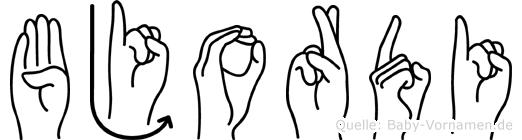 Bjordi in Fingersprache für Gehörlose
