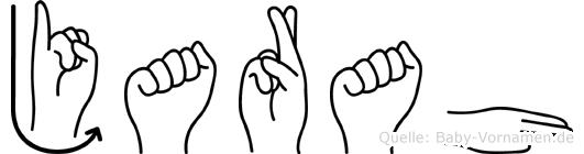 Jarah im Fingeralphabet der Deutschen Gebärdensprache