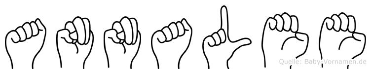 Annalee im Fingeralphabet der Deutschen Gebärdensprache