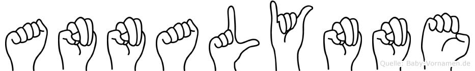 Annalynne im Fingeralphabet der Deutschen Gebärdensprache