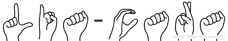 Lia-Cara im Fingeralphabet der Deutschen Gebärdensprache