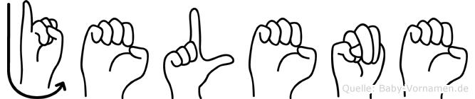 Jelene im Fingeralphabet der Deutschen Gebärdensprache