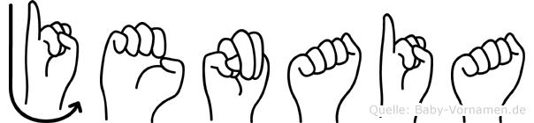 Jenaia im Fingeralphabet der Deutschen Gebärdensprache