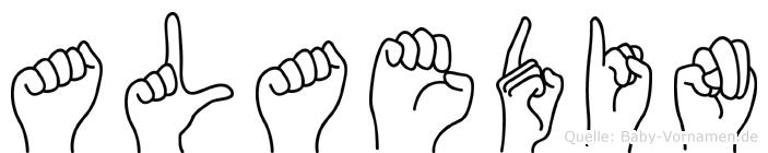 Alaedin im Fingeralphabet der Deutschen Gebärdensprache
