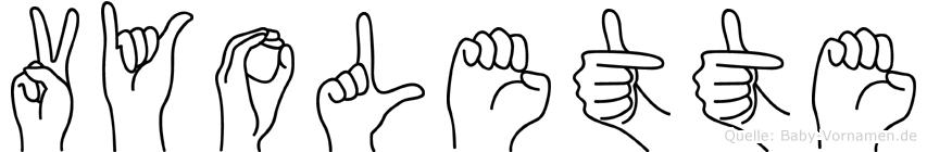 Vyolette im Fingeralphabet der Deutschen Gebärdensprache