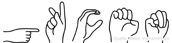 Gökcen im Fingeralphabet der Deutschen Gebärdensprache