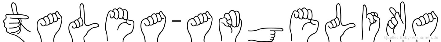 Talea-Angelika im Fingeralphabet der Deutschen Gebärdensprache