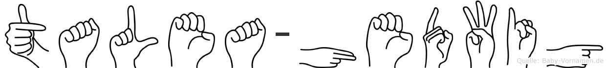 Talea-Hedwig im Fingeralphabet der Deutschen Gebärdensprache
