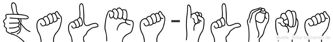 Talea-Ilona im Fingeralphabet der Deutschen Gebärdensprache