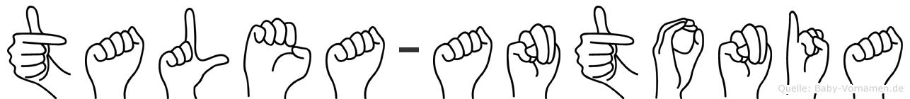Talea-Antonia im Fingeralphabet der Deutschen Gebärdensprache