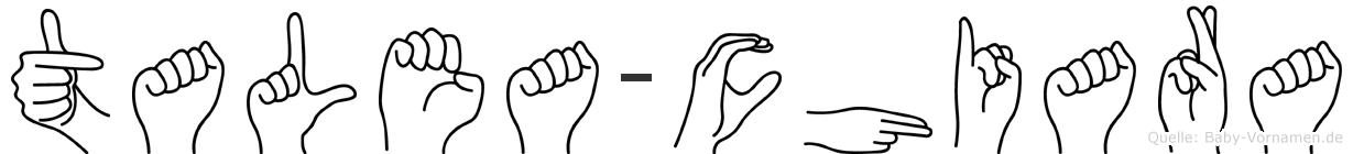 Talea-Chiara im Fingeralphabet der Deutschen Gebärdensprache