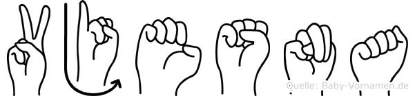Vjesna im Fingeralphabet der Deutschen Gebärdensprache