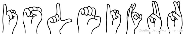 Isleifur in Fingersprache für Gehörlose