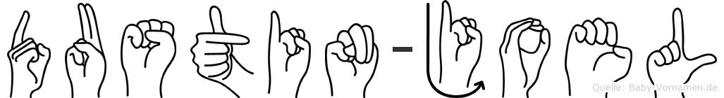 Dustin-Joel im Fingeralphabet der Deutschen Gebärdensprache