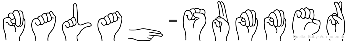 Nalah-Summer im Fingeralphabet der Deutschen Gebärdensprache