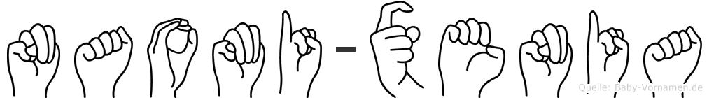 Naomi-Xenia im Fingeralphabet der Deutschen Gebärdensprache