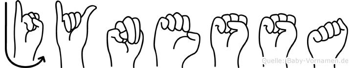 Jynessa im Fingeralphabet der Deutschen Gebärdensprache