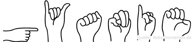 Gyanie im Fingeralphabet der Deutschen Gebärdensprache