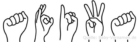 Afiwa im Fingeralphabet der Deutschen Gebärdensprache