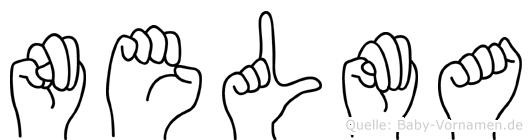 Nelma im Fingeralphabet der Deutschen Gebärdensprache