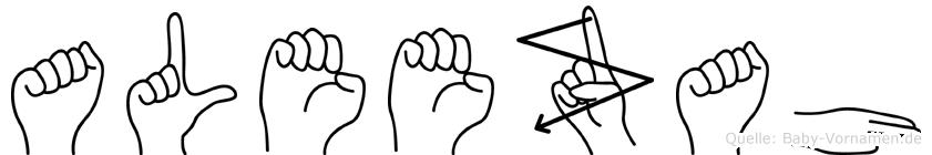 Aleezah in Fingersprache für Gehörlose