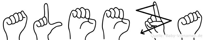 Aleeza in Fingersprache für Gehörlose