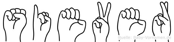 Siever in Fingersprache für Gehörlose