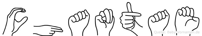 Chantae im Fingeralphabet der Deutschen Gebärdensprache