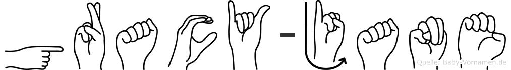 Gracy-Jane im Fingeralphabet der Deutschen Gebärdensprache