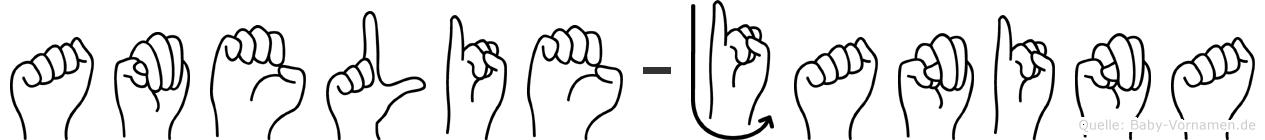 Amelie-Janina im Fingeralphabet der Deutschen Gebärdensprache