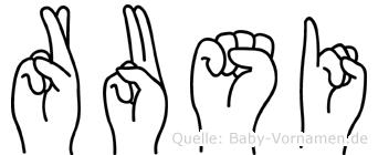 Rusi in Fingersprache für Gehörlose