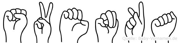 Svenka in Fingersprache für Gehörlose