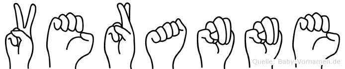 Veranne in Fingersprache für Gehörlose