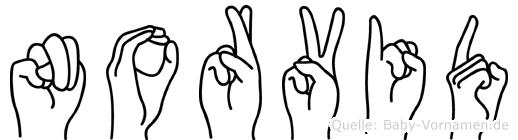 Norvid in Fingersprache für Gehörlose