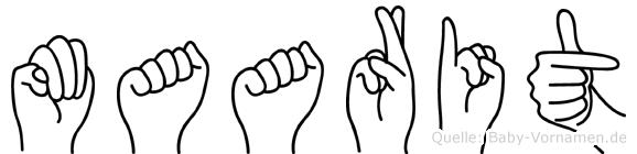Maarit im Fingeralphabet der Deutschen Gebärdensprache