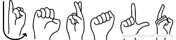Jerald in Fingersprache für Gehörlose