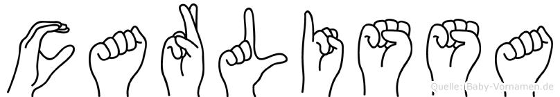 Carlissa im Fingeralphabet der Deutschen Gebärdensprache