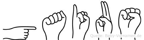 Gaius im Fingeralphabet der Deutschen Gebärdensprache