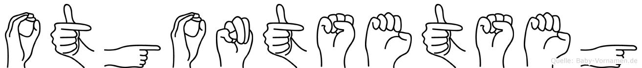 Otgontsetseg im Fingeralphabet der Deutschen Gebärdensprache