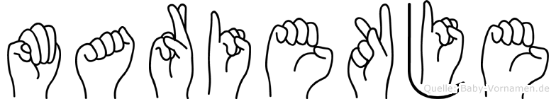 Mariekje in Fingersprache für Gehörlose
