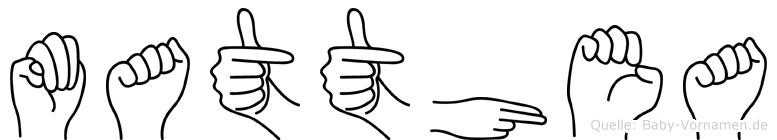 Matthea in Fingersprache für Gehörlose