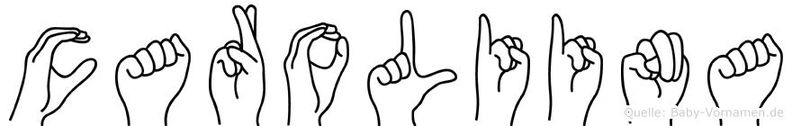 Caroliina in Fingersprache für Gehörlose