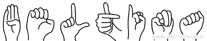 Beltina in Fingersprache für Gehörlose
