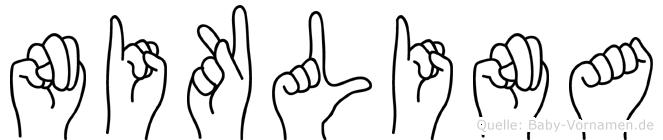 Niklina im Fingeralphabet der Deutschen Gebärdensprache