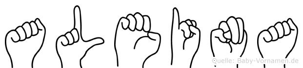 Aleina im Fingeralphabet der Deutschen Gebärdensprache