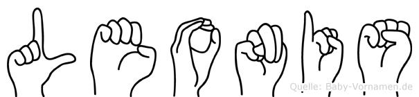 Leonis im Fingeralphabet der Deutschen Gebärdensprache