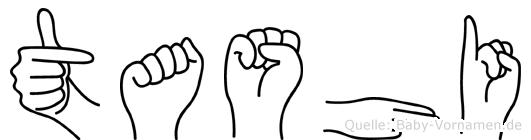 Tashi im Fingeralphabet der Deutschen Gebärdensprache