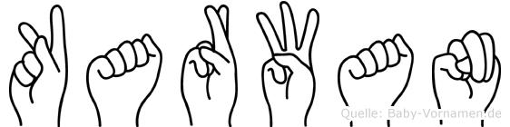 Karwan im Fingeralphabet der Deutschen Gebärdensprache