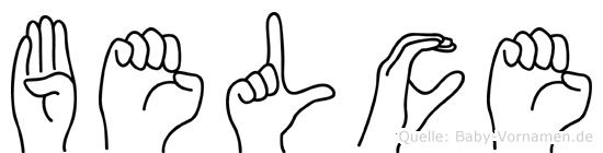 Belce im Fingeralphabet der Deutschen Gebärdensprache